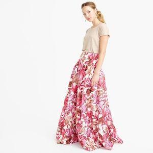 J. Crew Collection Crinoline Skirt Romantic Floral